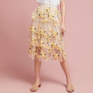 Eva Franco Spring Melody Tulle Skirt new